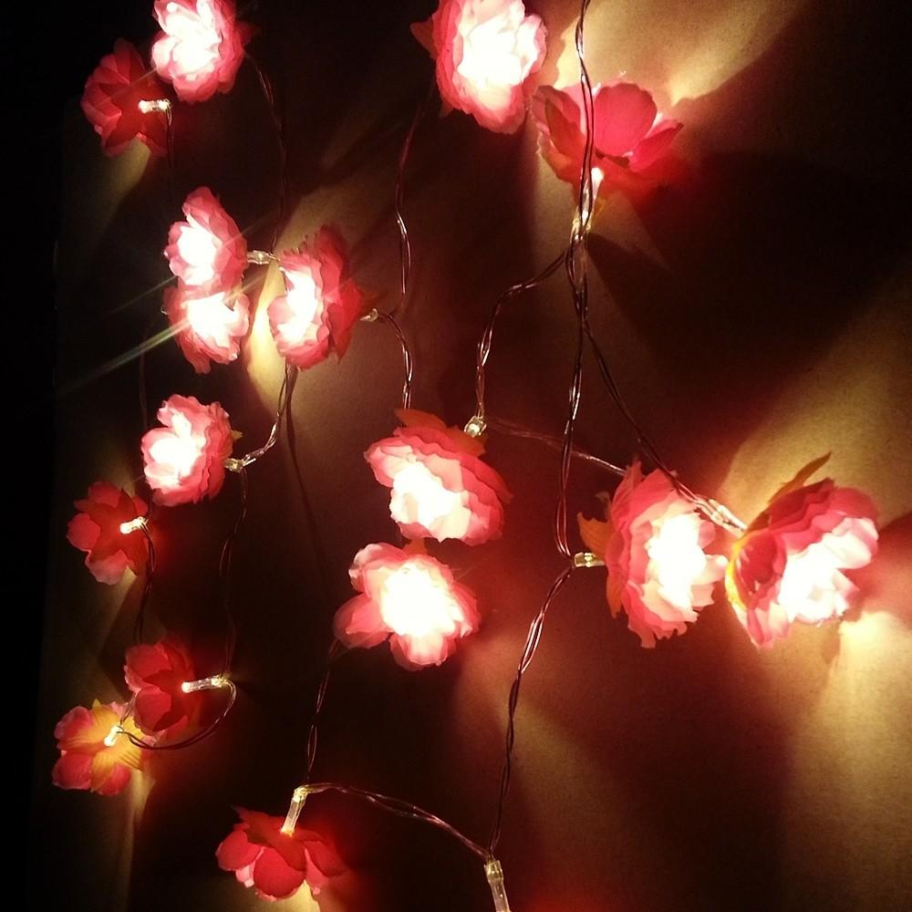 Battery Operation Diy Flower Garland Lamp Led Twinkle