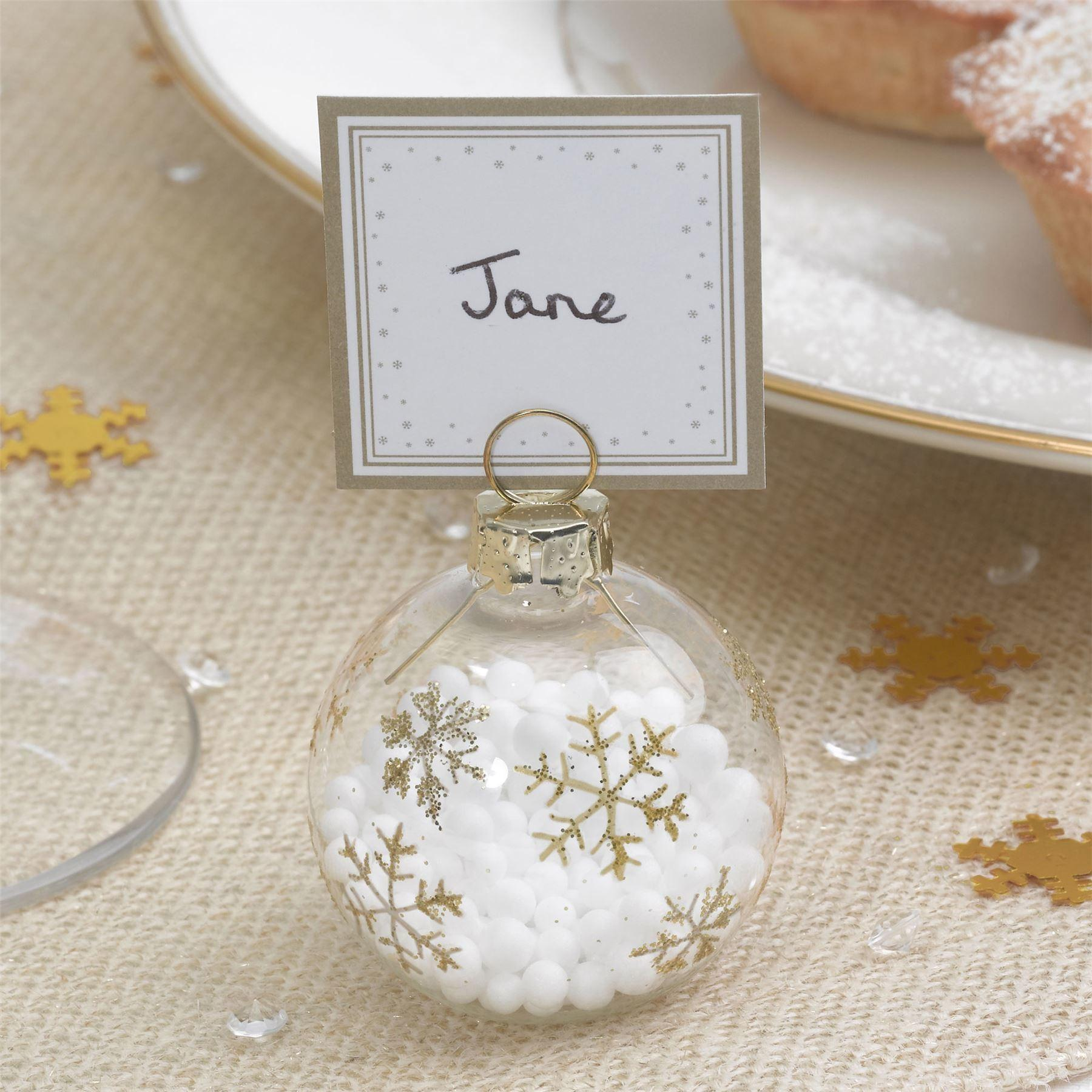Bauble Place Card Holders Cards Christmas