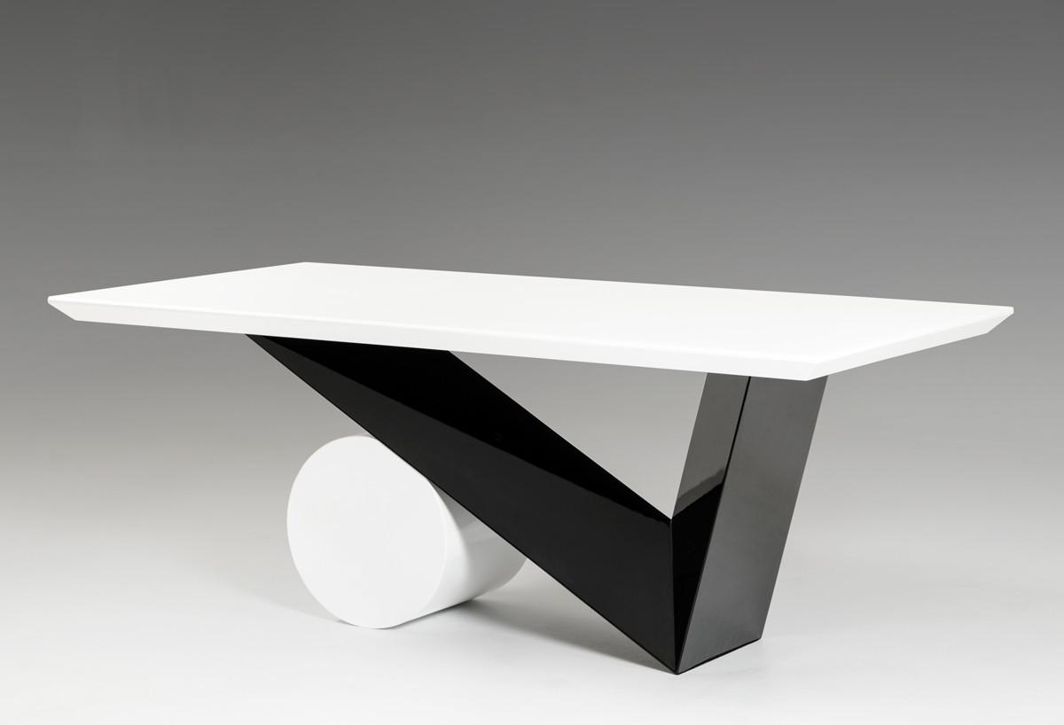 Bauhaus Modern Black White Dining Table