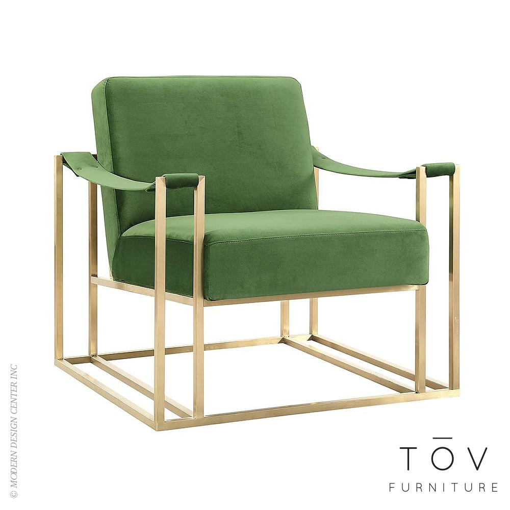 Baxter Green Velvet Chair Tov Furniture Metropolitandecor