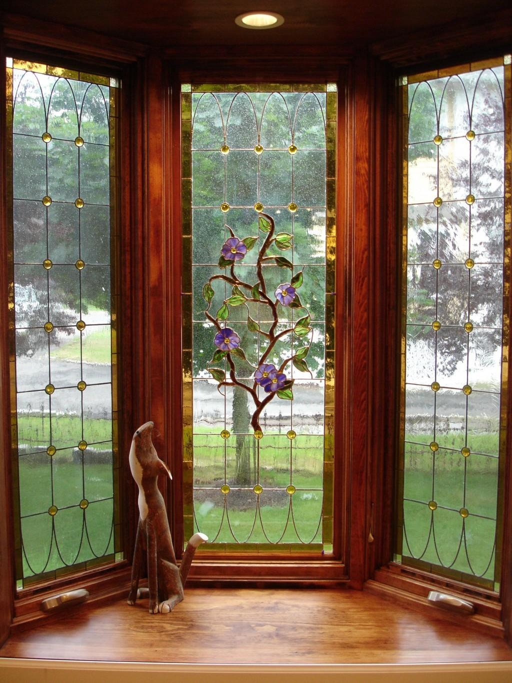 Bay Window Pics Beautiful Brown Wooden Frame