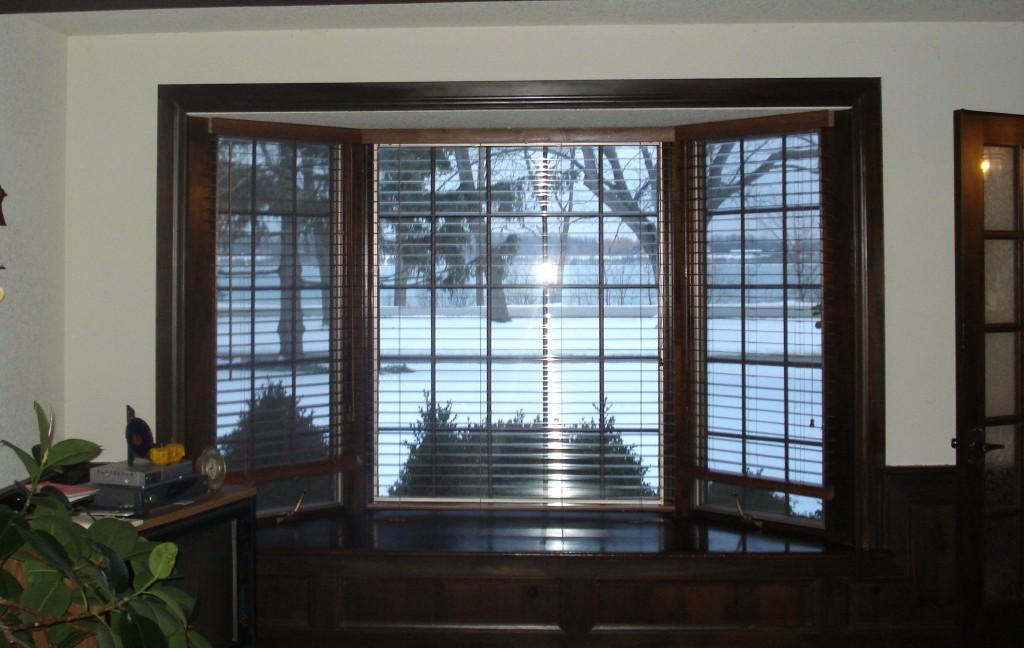 Bay Window Pics Elegant Dark Walnut Wooden