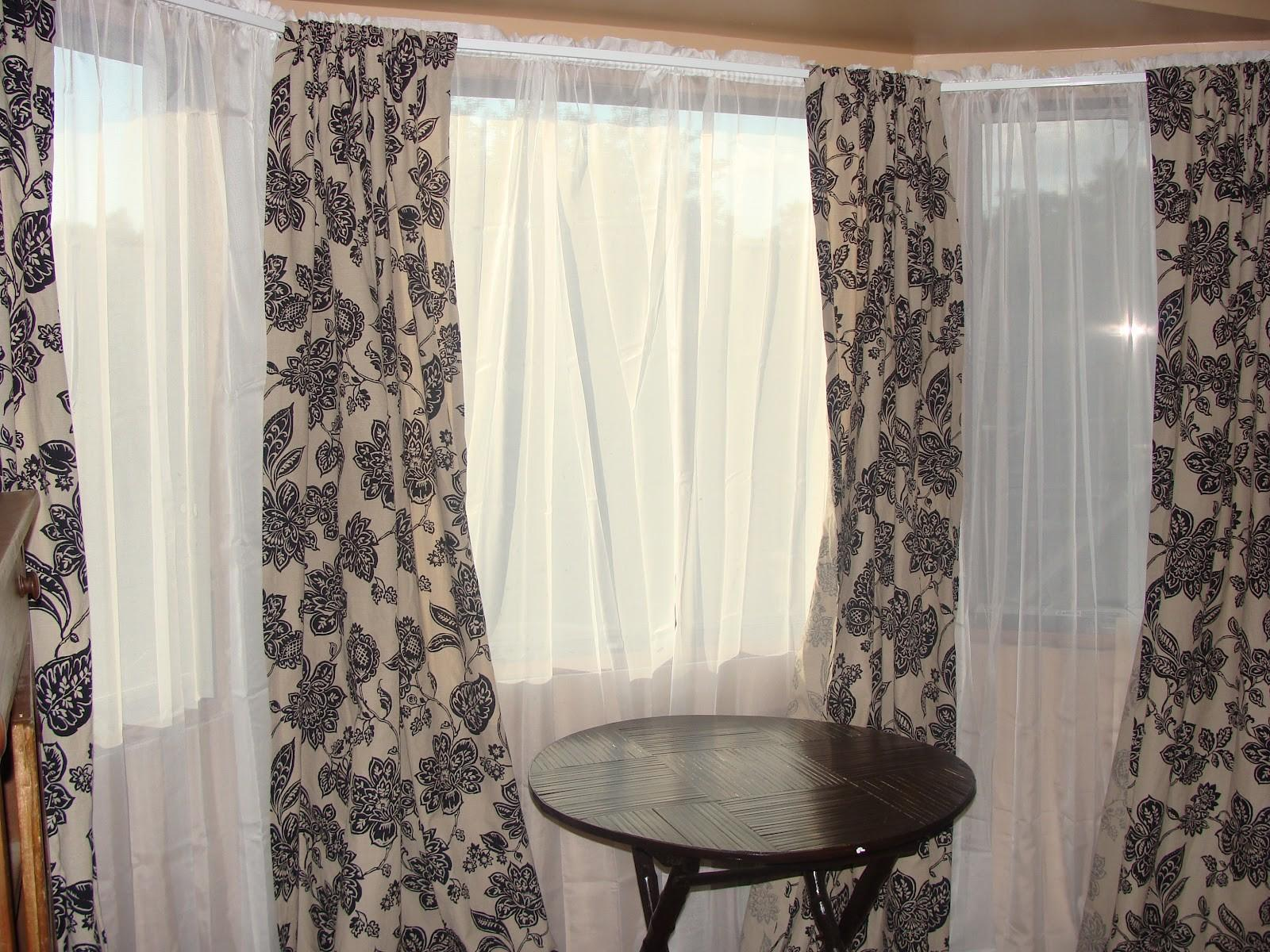 Bay Window Sheer Curtain Ideas Menzilperde