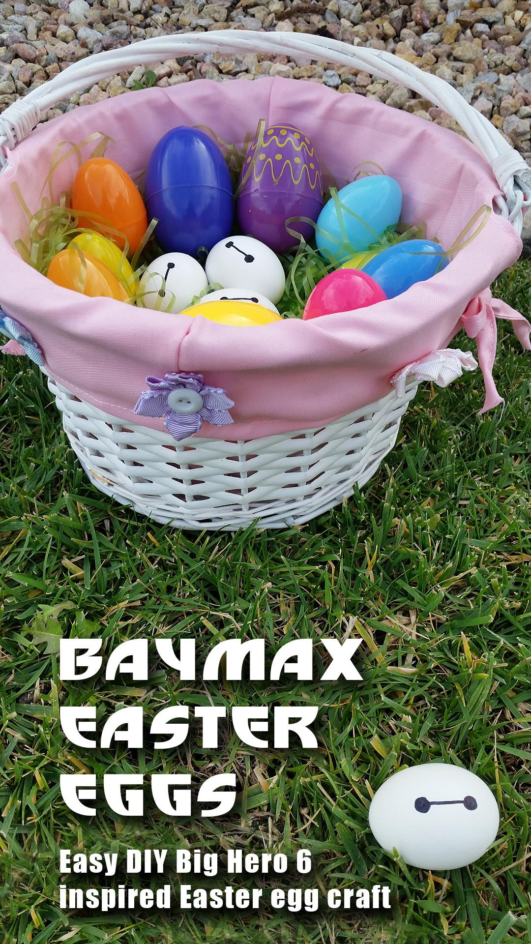 Baymax Easter Eggs Easy Craft