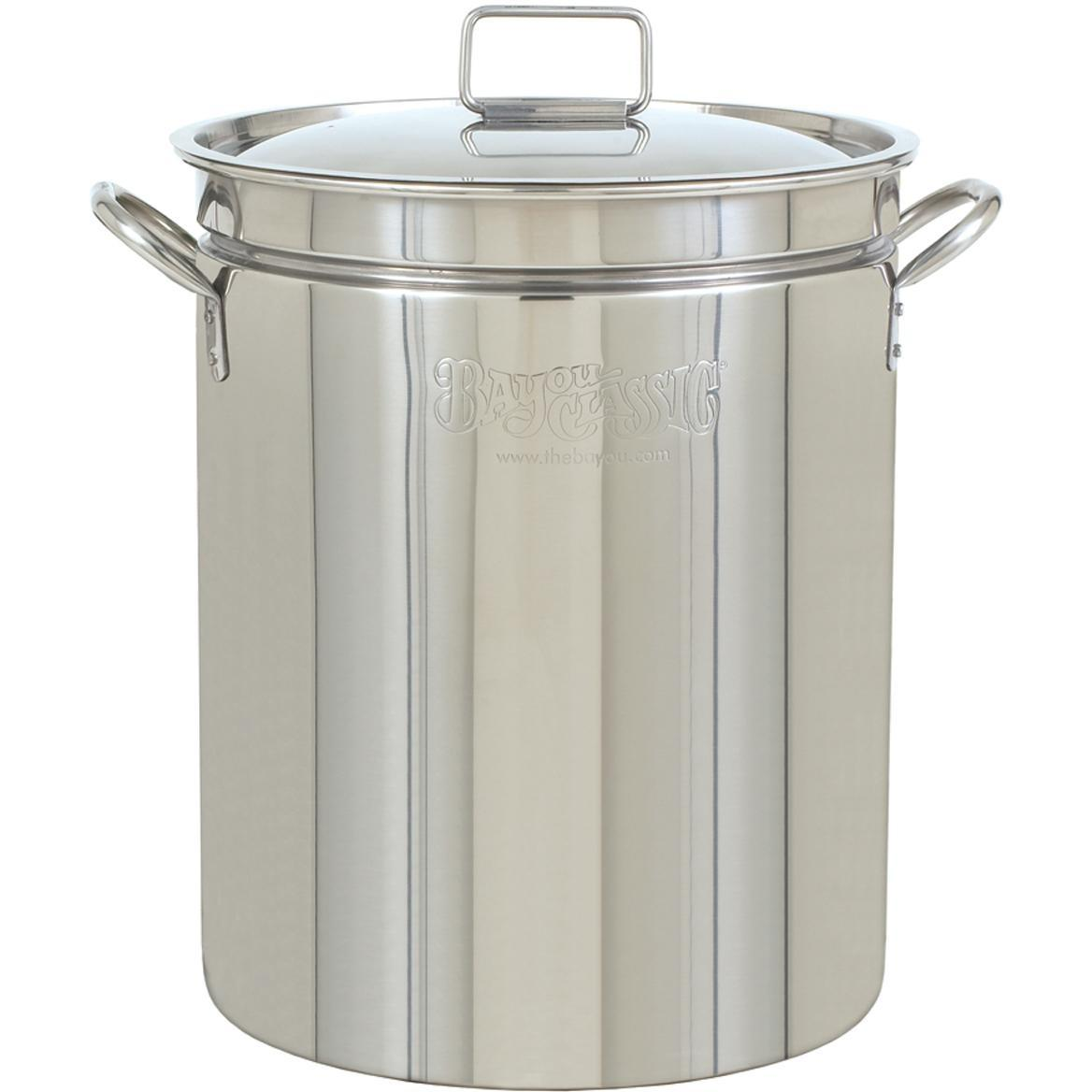 Bayou Classic Stainless Steel Stock Pot Vented