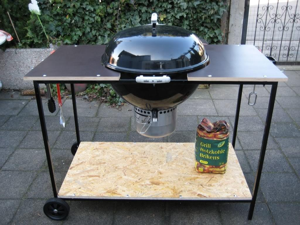 Bbq Side Table Increase Working Surface Fire