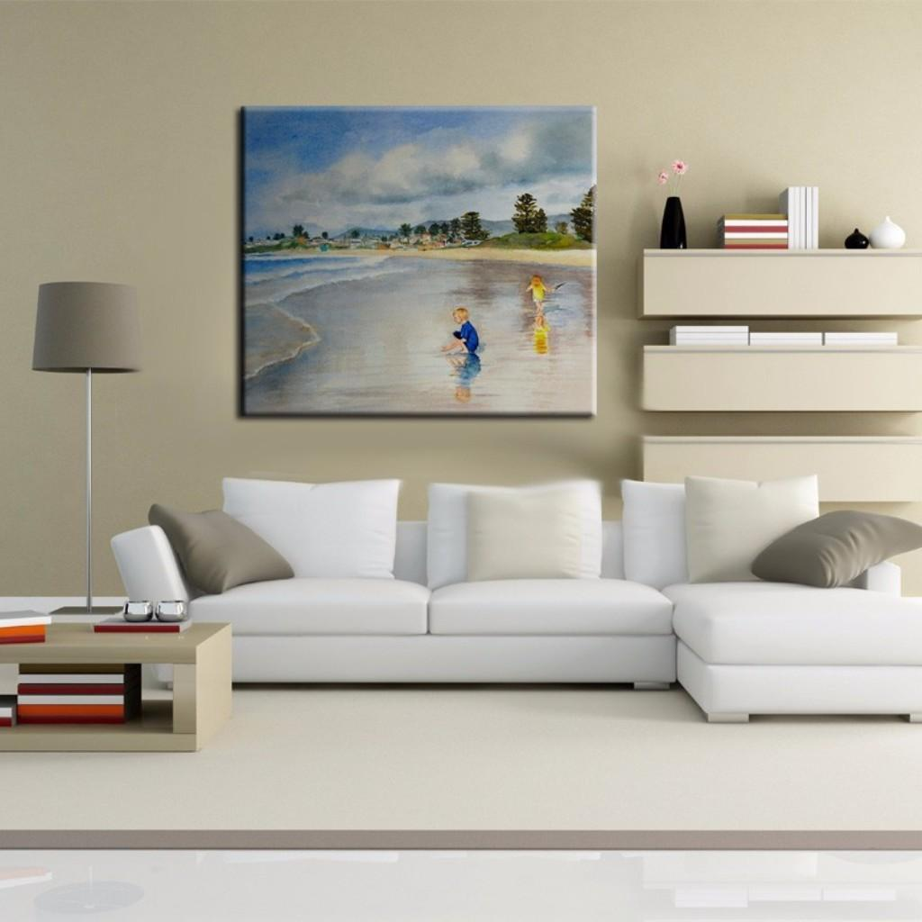 Beach Contemporary White Shaped Sectional