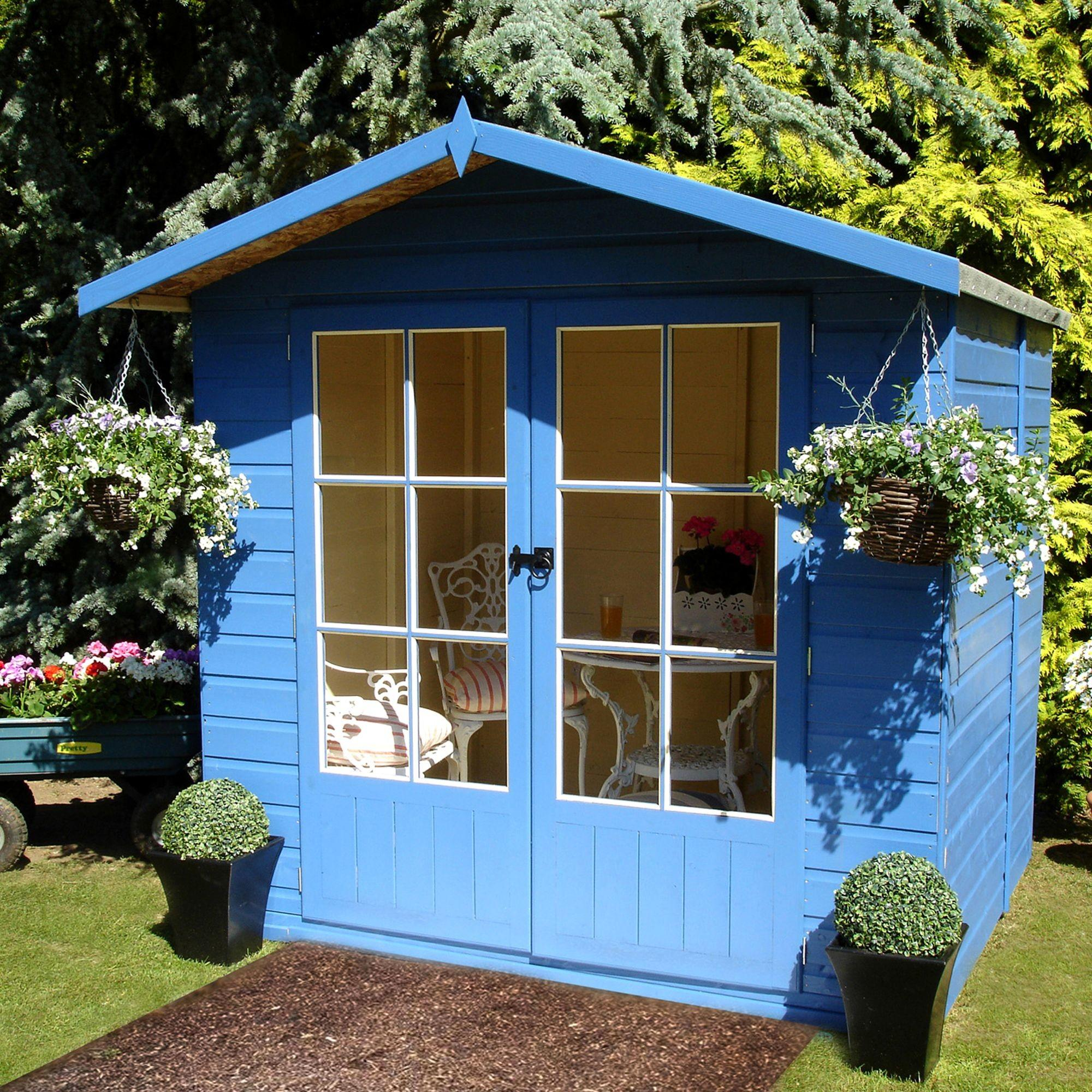 Beach Hut Shiplap Wooden Summerhouse Assembly