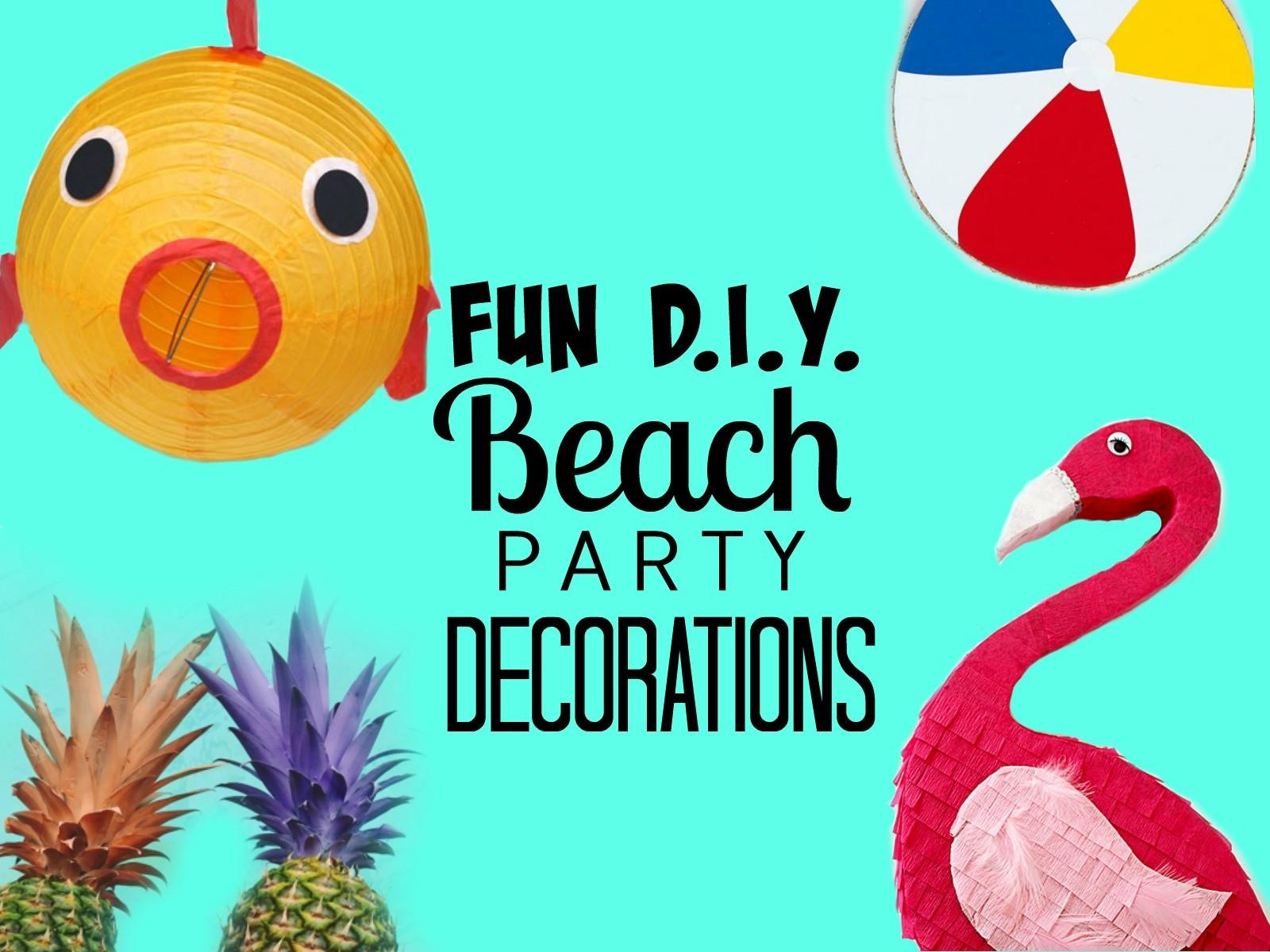 Beach Party Decorations Craft Collector