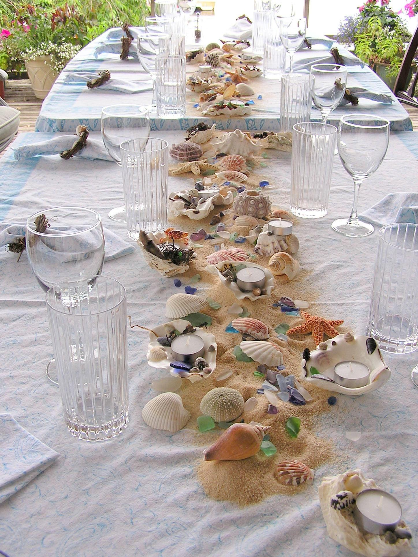 Beach Theme Table Decorations Inspired Kitchen