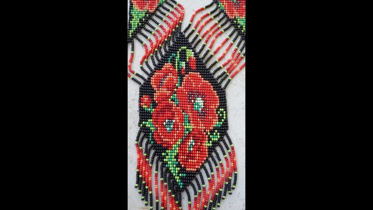 Bead Loom Necklace Red Poppies Alternative Colors