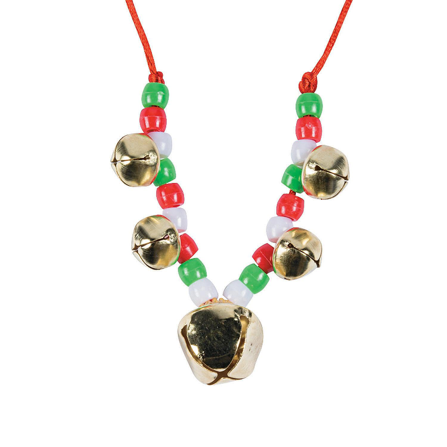 Beaded Jingle Bell Necklace Craft Kit Oriental Trading