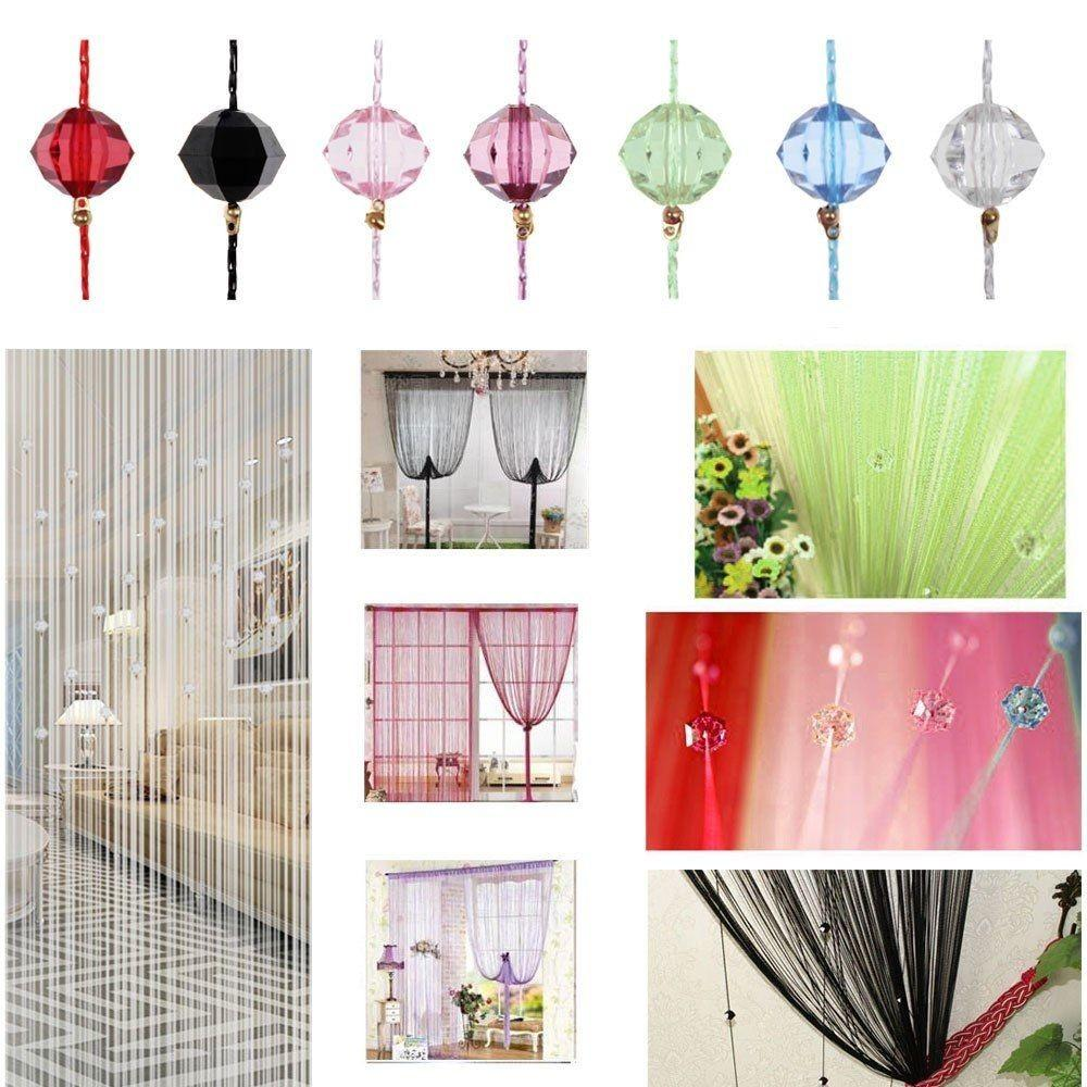 Beaded String Curtain Door Divider Crystal Beads Tassel