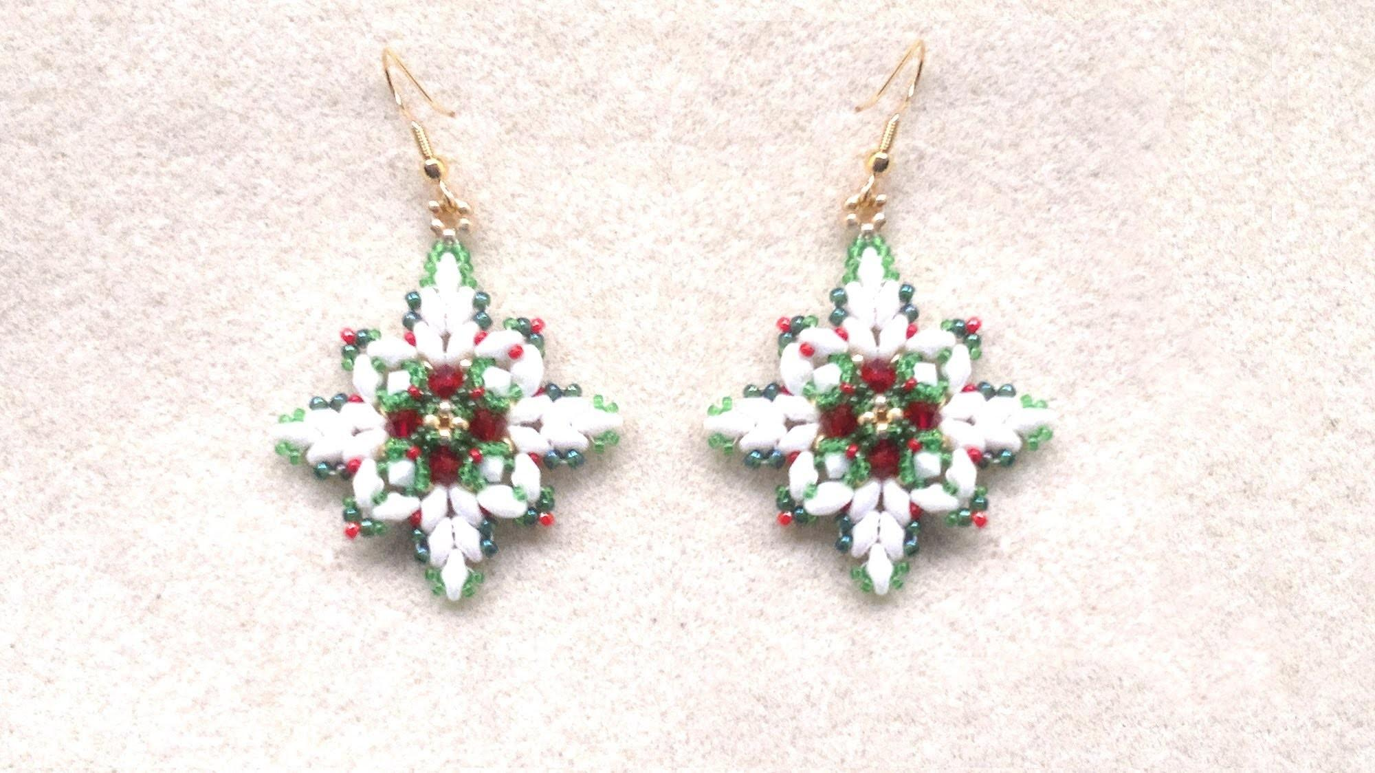 Beading4perfectionists Christmas Earrings Superduo