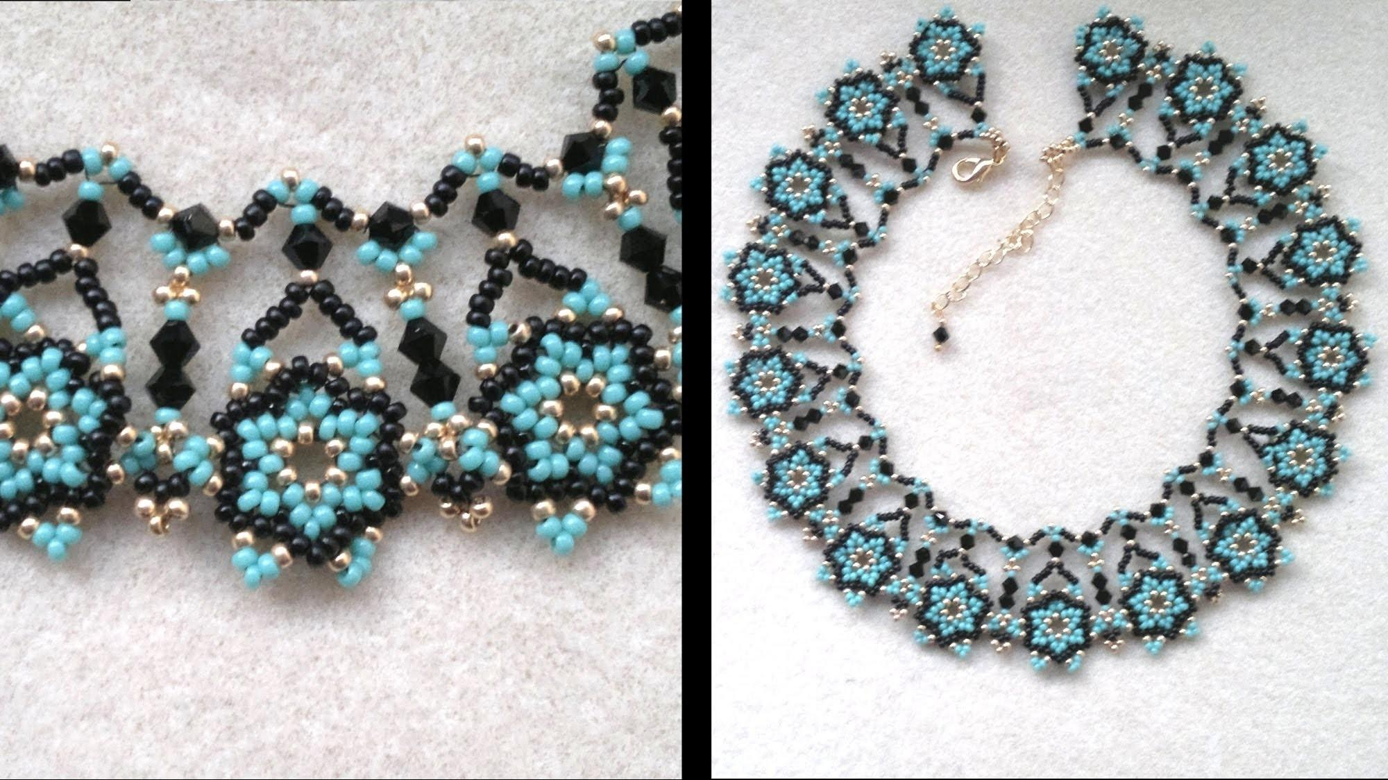 Beading4perfectionists Netted Necklace Putting