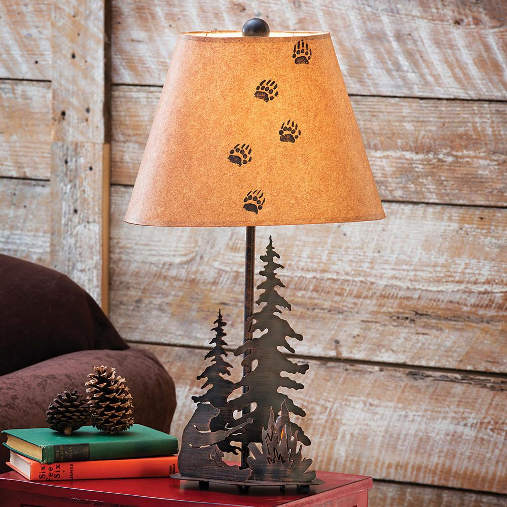 Bear Campfire Table Lamp