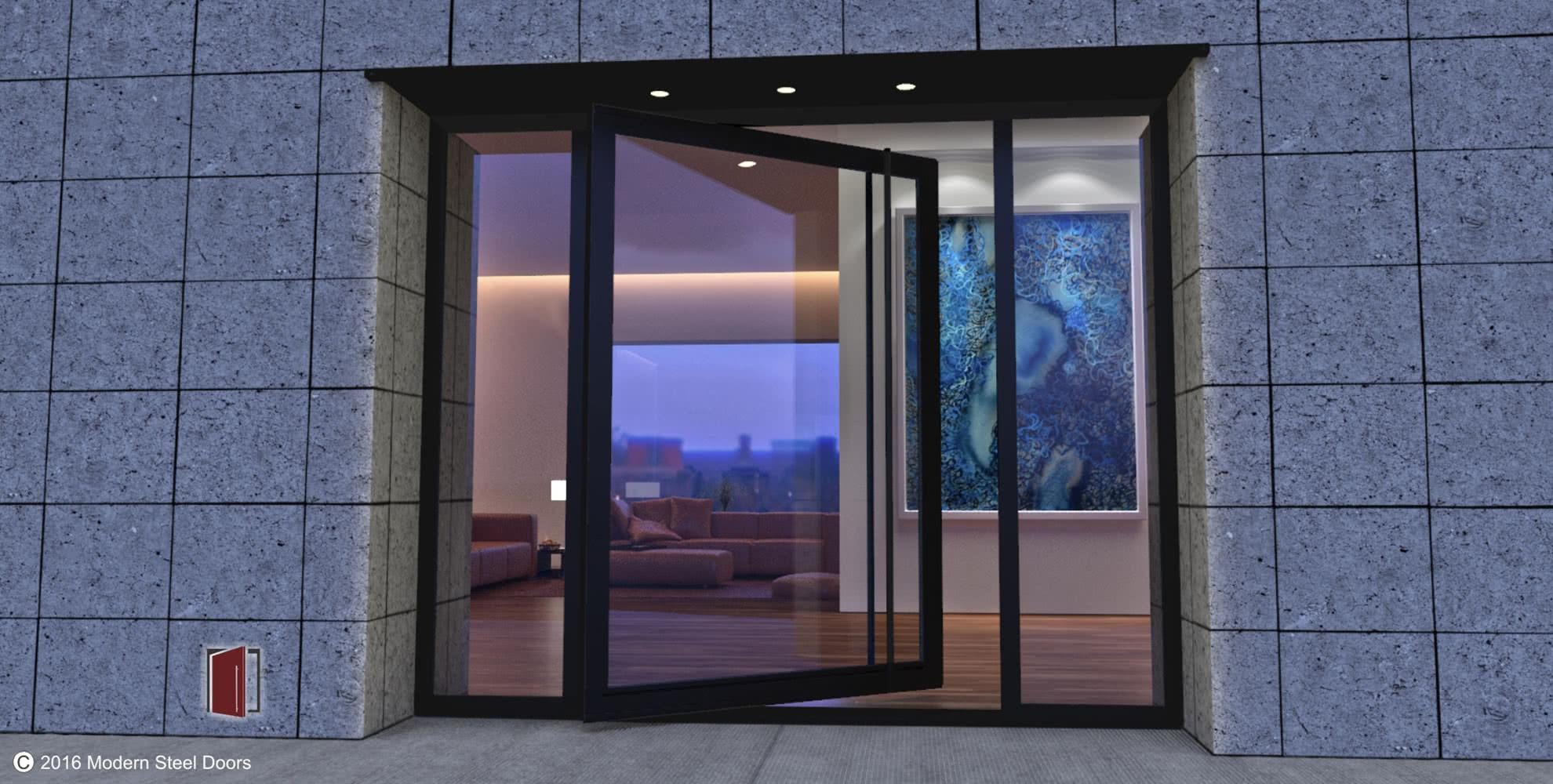 Beauteous Steel Glass Doors Decorating Inspiration