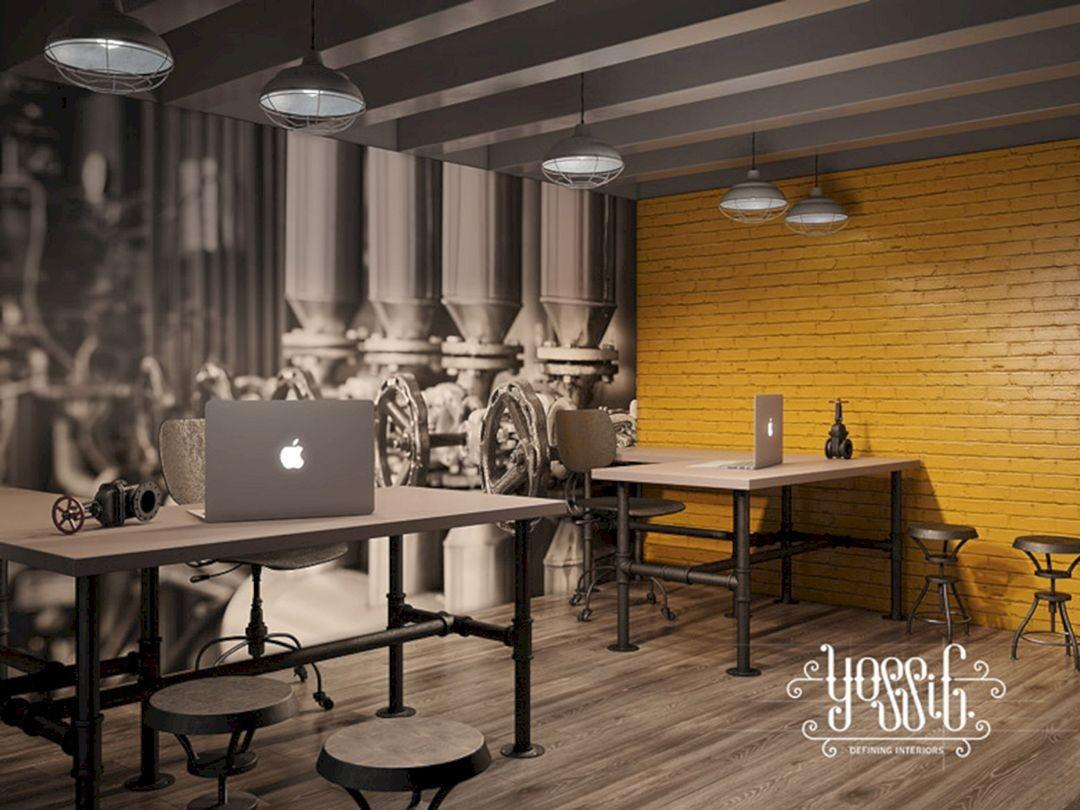 Beautiful Amazing Industrial Home Office Designs