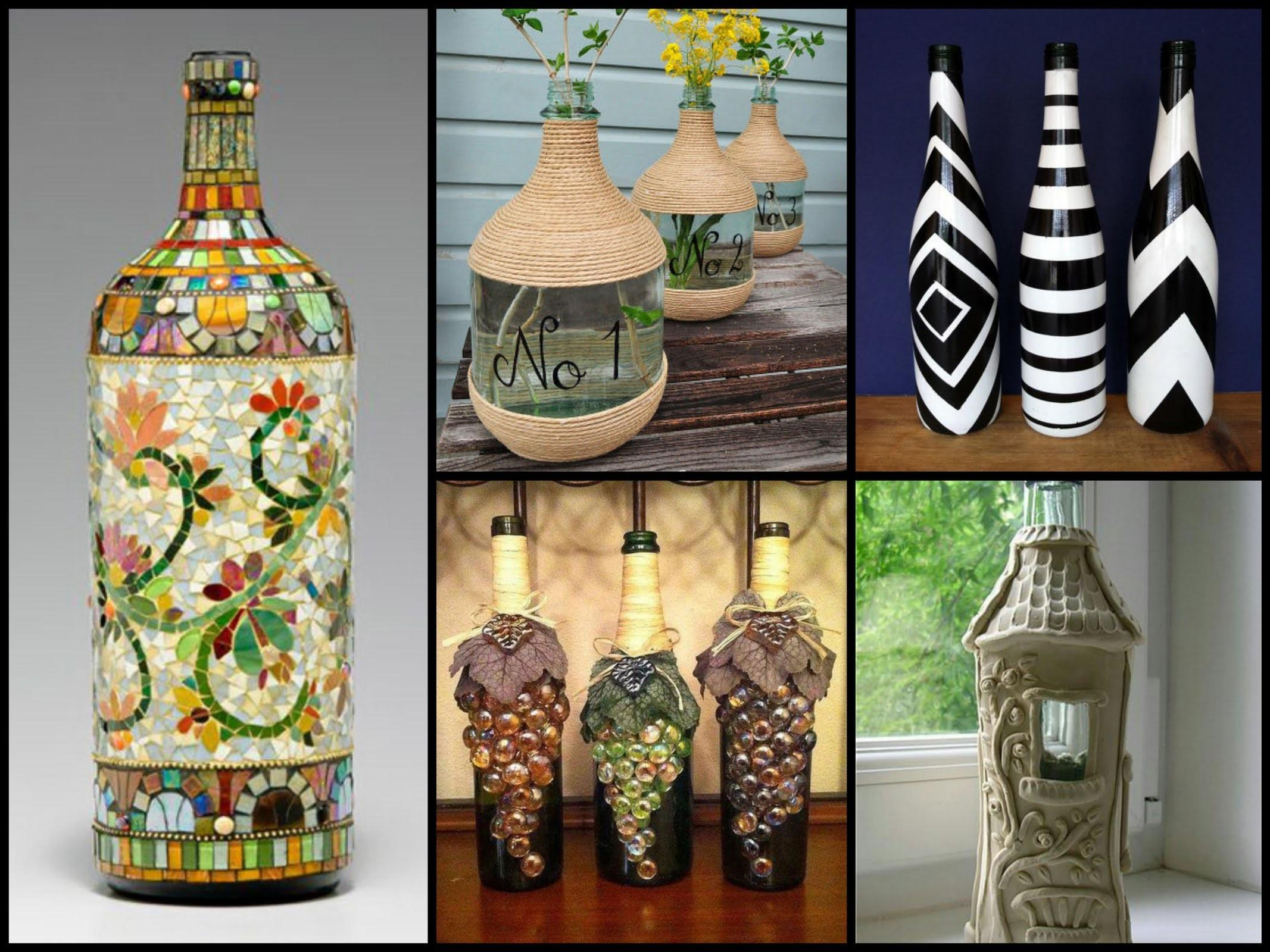 Beautiful Bottle Decorating Ideas Diy Recycled Room