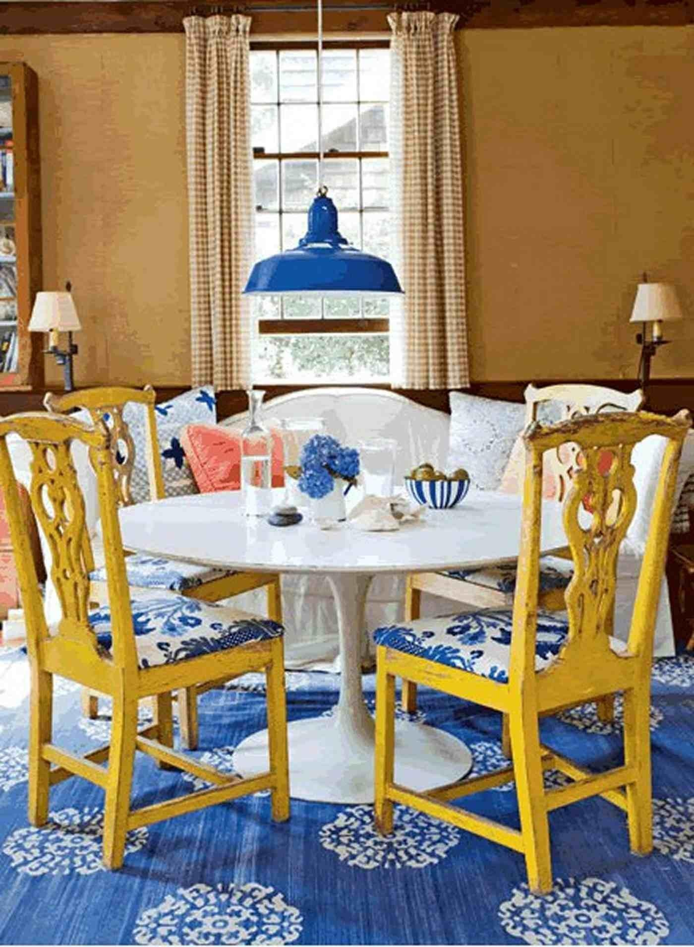 Beautiful Classic Dining Room Rustic Yellow Wood