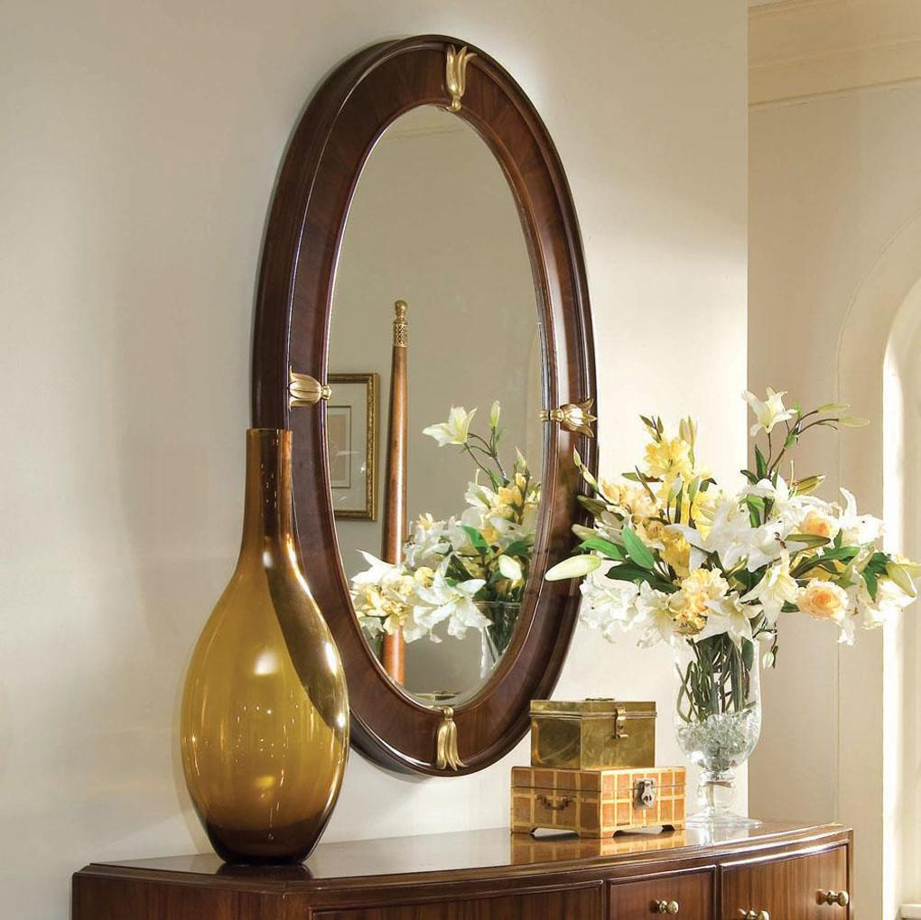 Beautiful Classic Oval Hallway Mirror Design