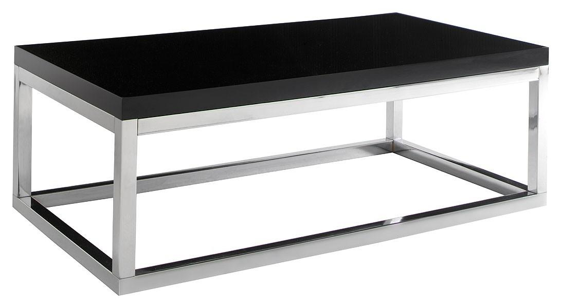 Beautiful Contemporary Black Lacquered Coffee Tables
