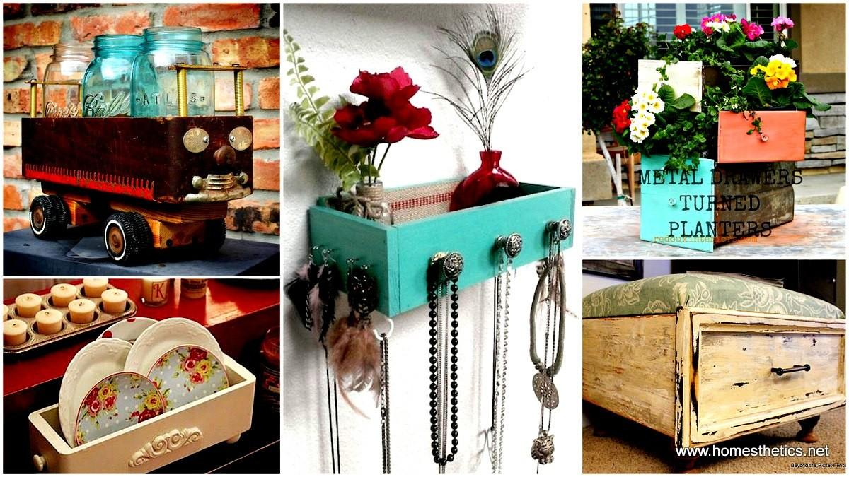 Beautiful Creative Ways Recycle Old Drawers