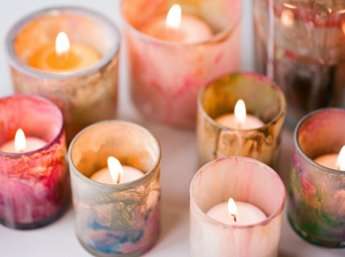 Beautiful Diy Candle Stick Holders Votives Brit