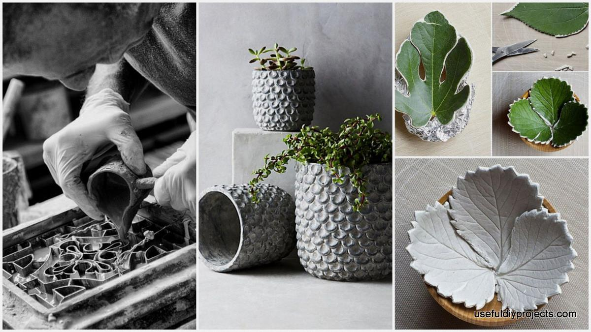 Beautiful Diy Cement Crafts Add Diversity Your