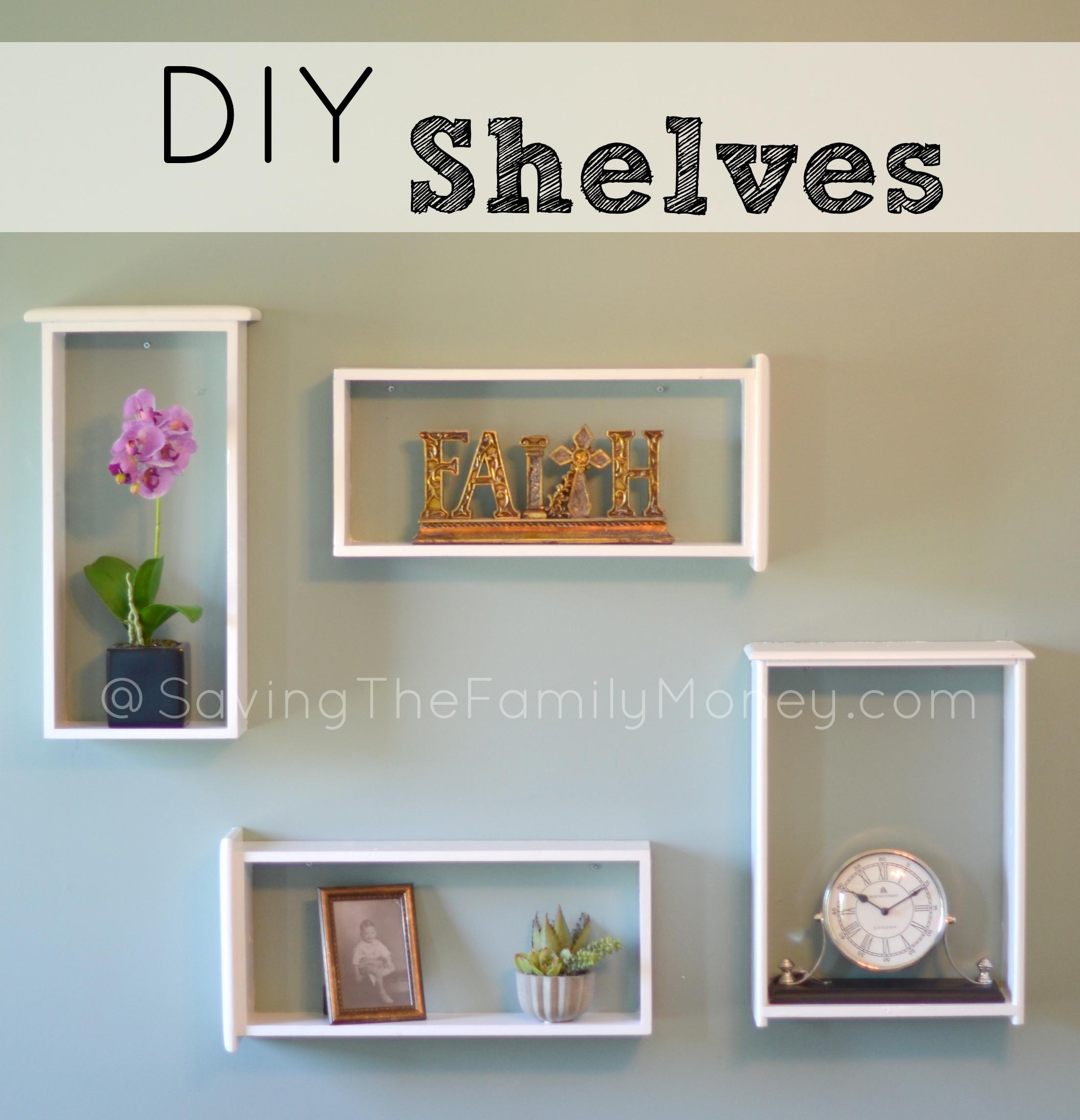 Beautiful Diy Wall Shelves Used Drawers