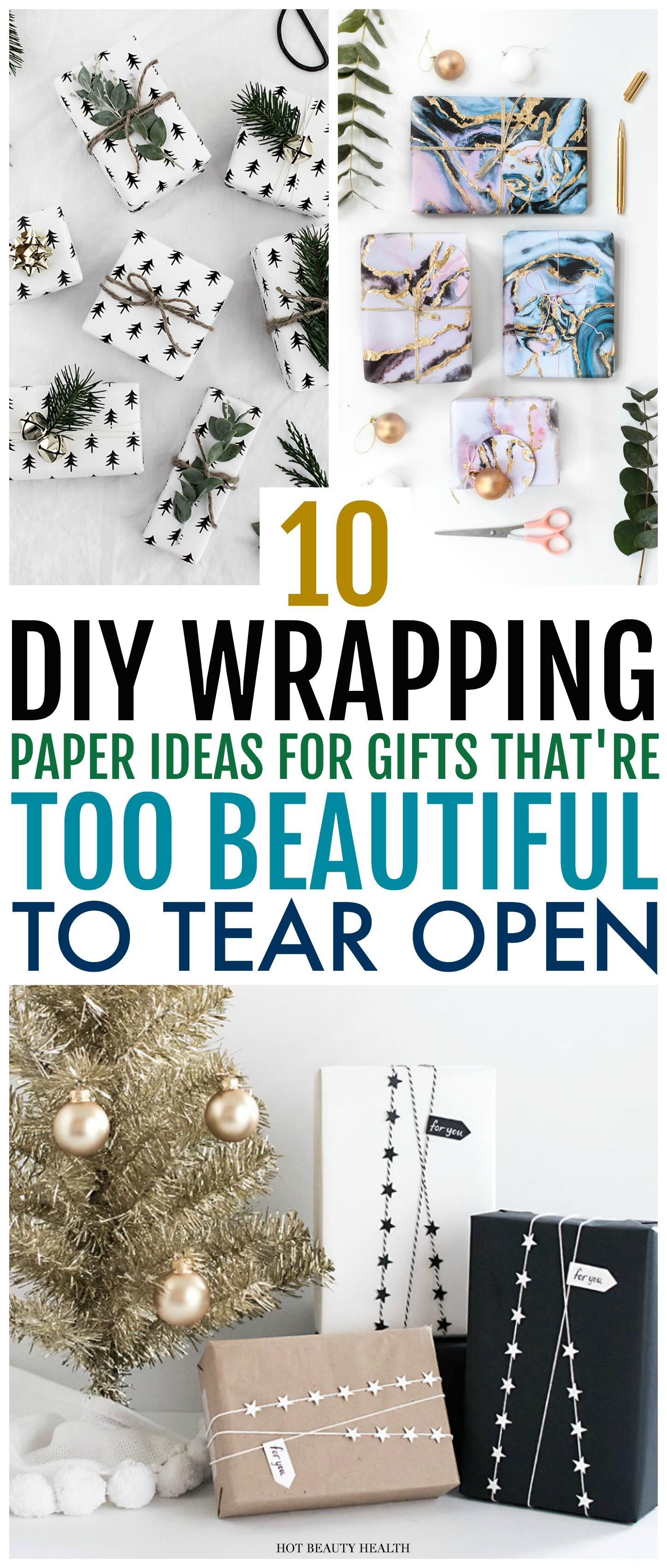 Beautiful Diy Wrapping Paper Ideas Gifting Hot
