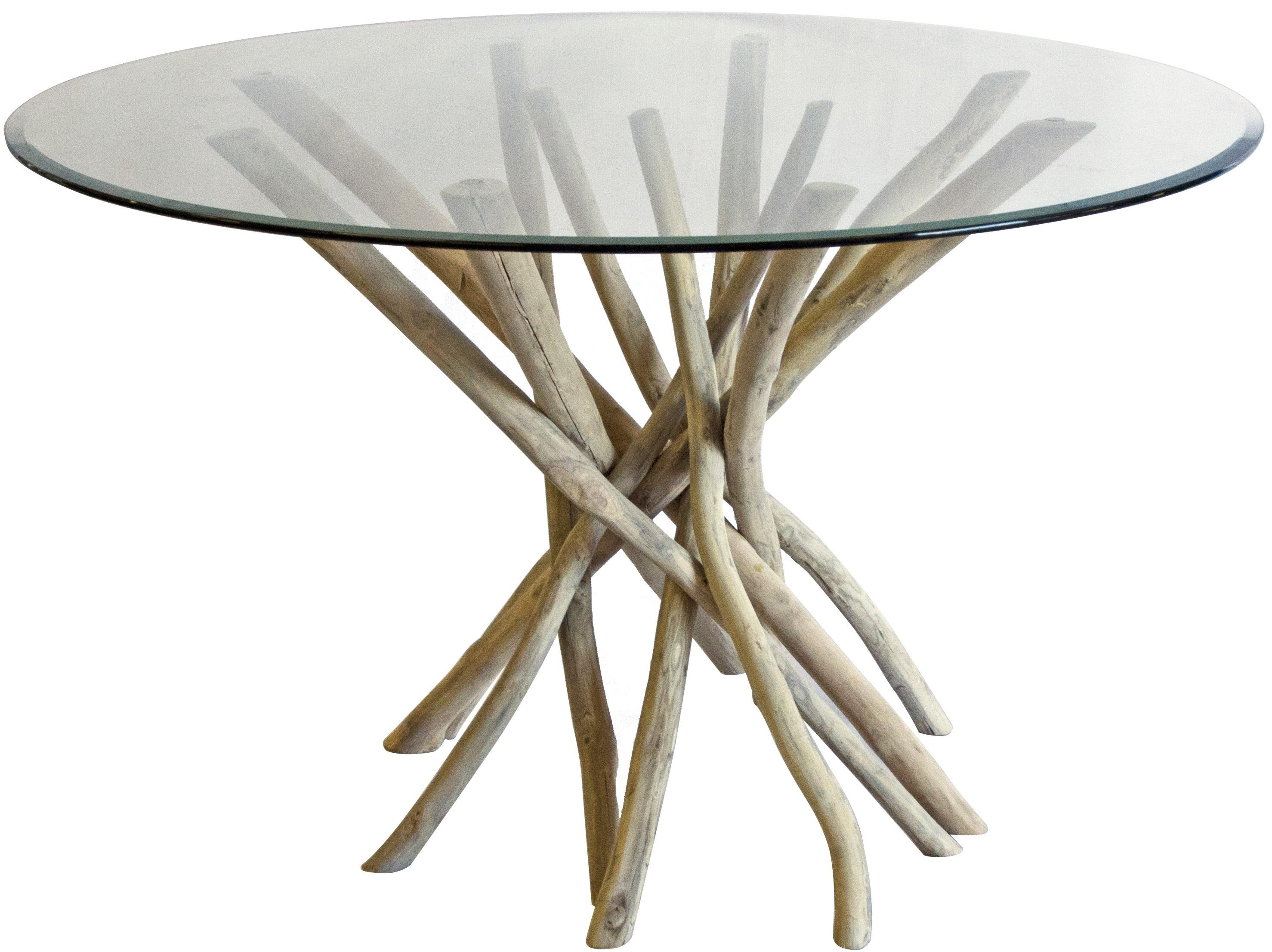 Beautiful Driftwood Style Dining Table Light Room