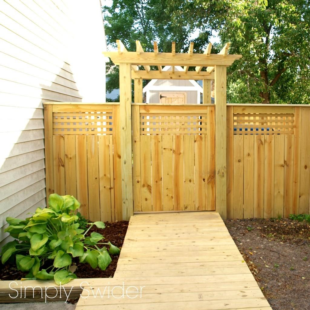 Beautiful Fence Gate Arbor Simply Swider