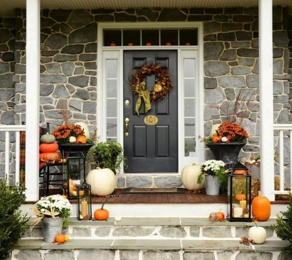 Beautiful House Entrance Ideas Stone Wall Decor