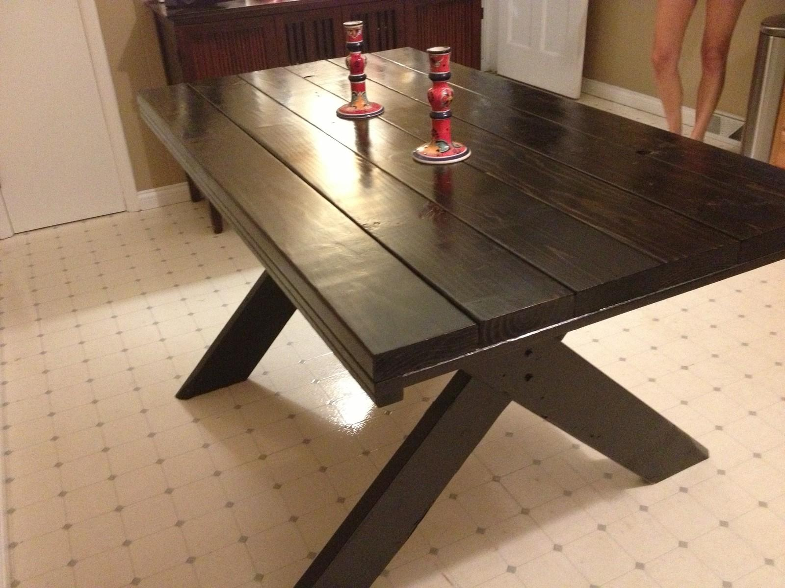 Beautiful Indoor Picnic Table Dining