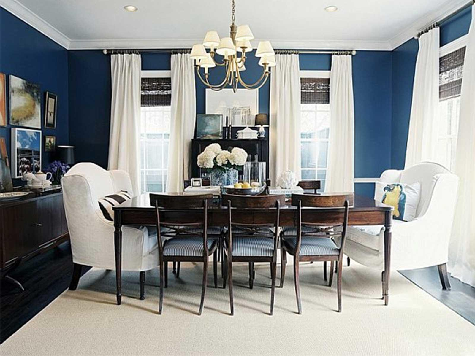 Beautiful Interior Decorate Dining Room Navy
