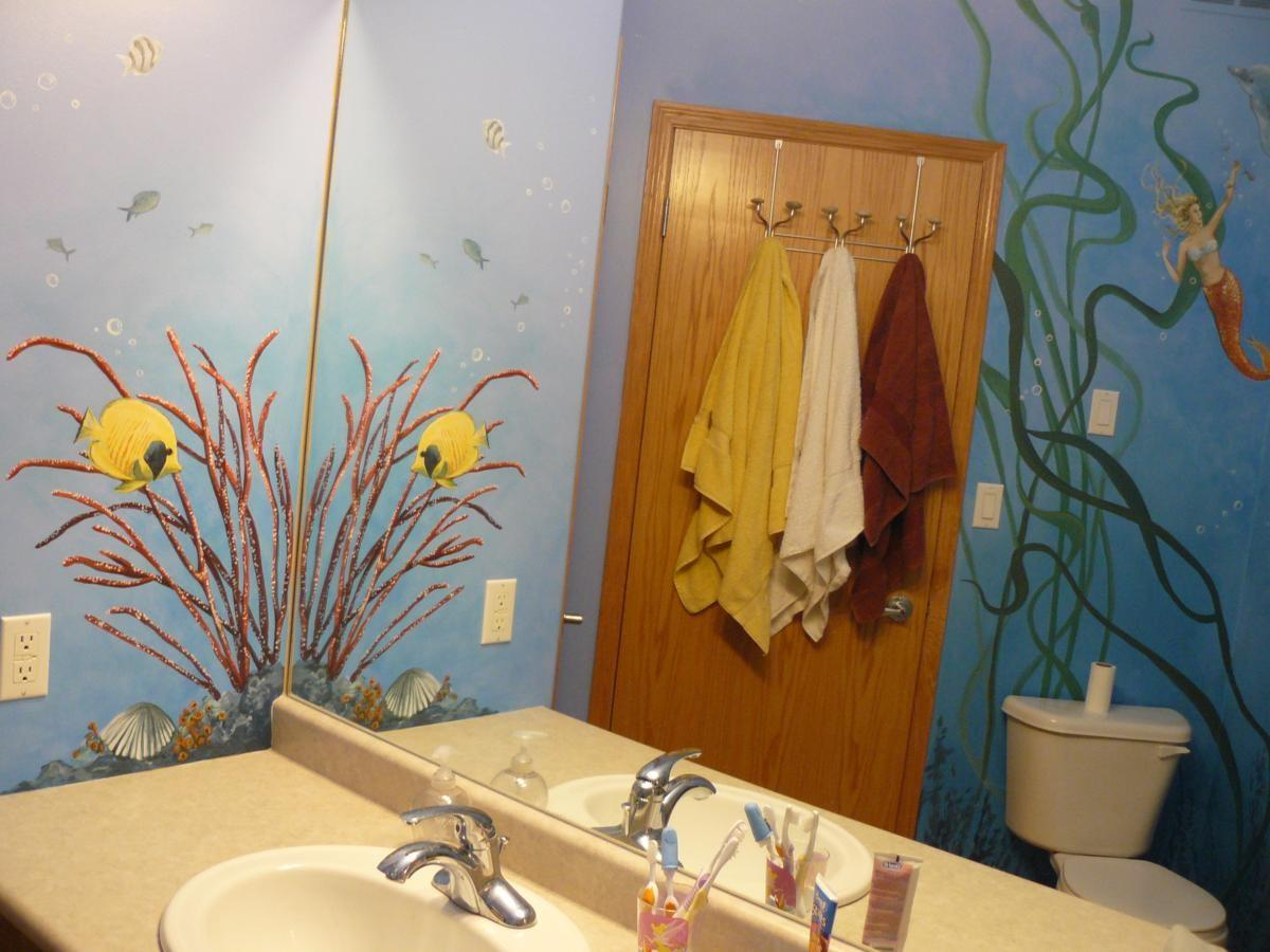 Beautiful Mermaid Bathroom Decor Office Bedroom