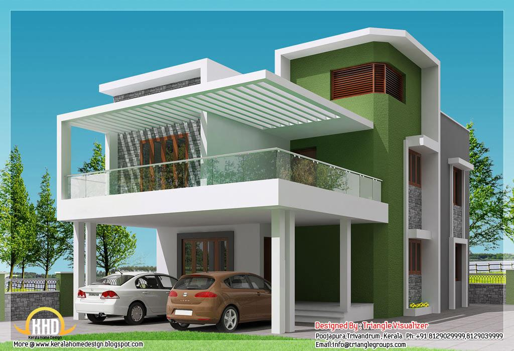 Beautiful Modern Simple Indian House Design 2168