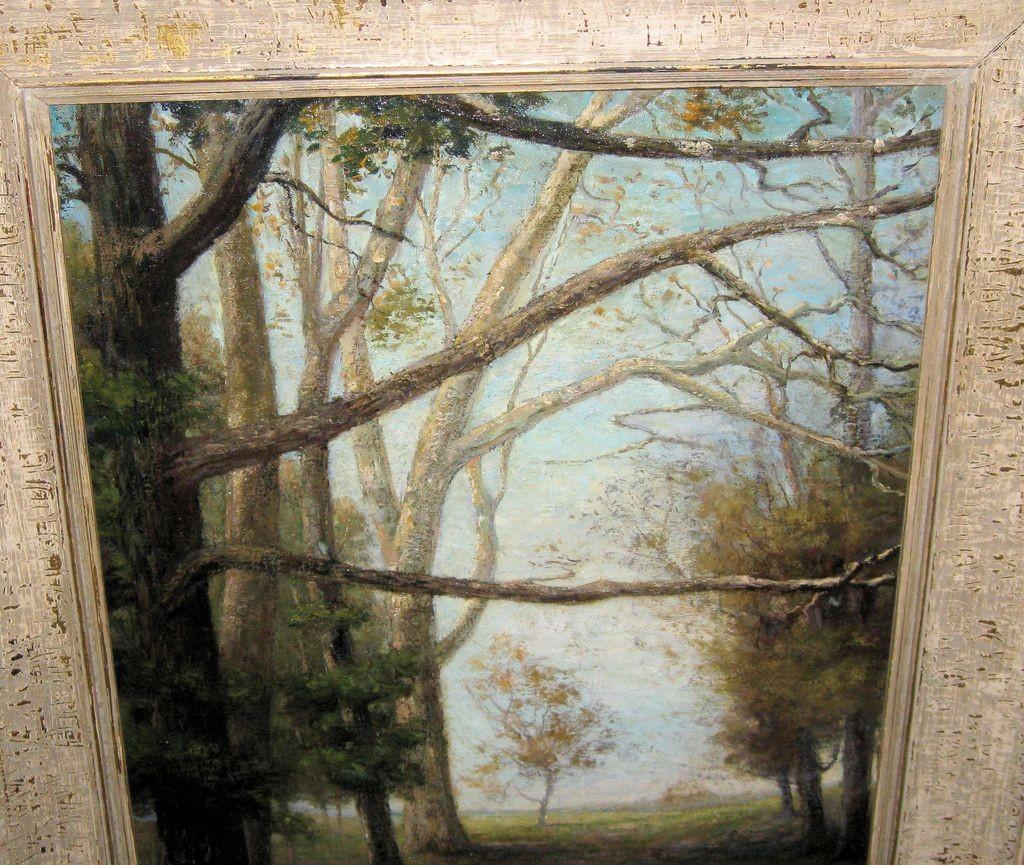 Beautiful Oil Painting Landscape Scene Tree