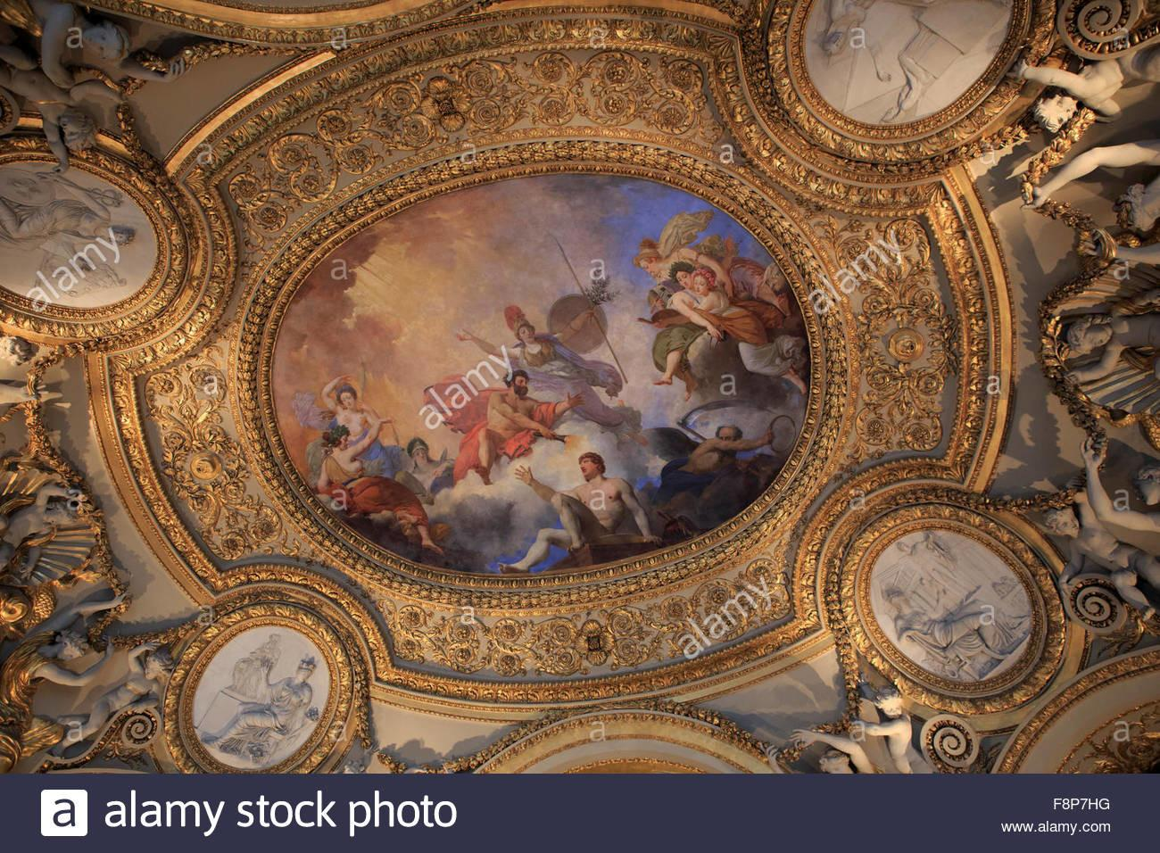 Beautiful Painted Ceilings Louvre Museum Paris