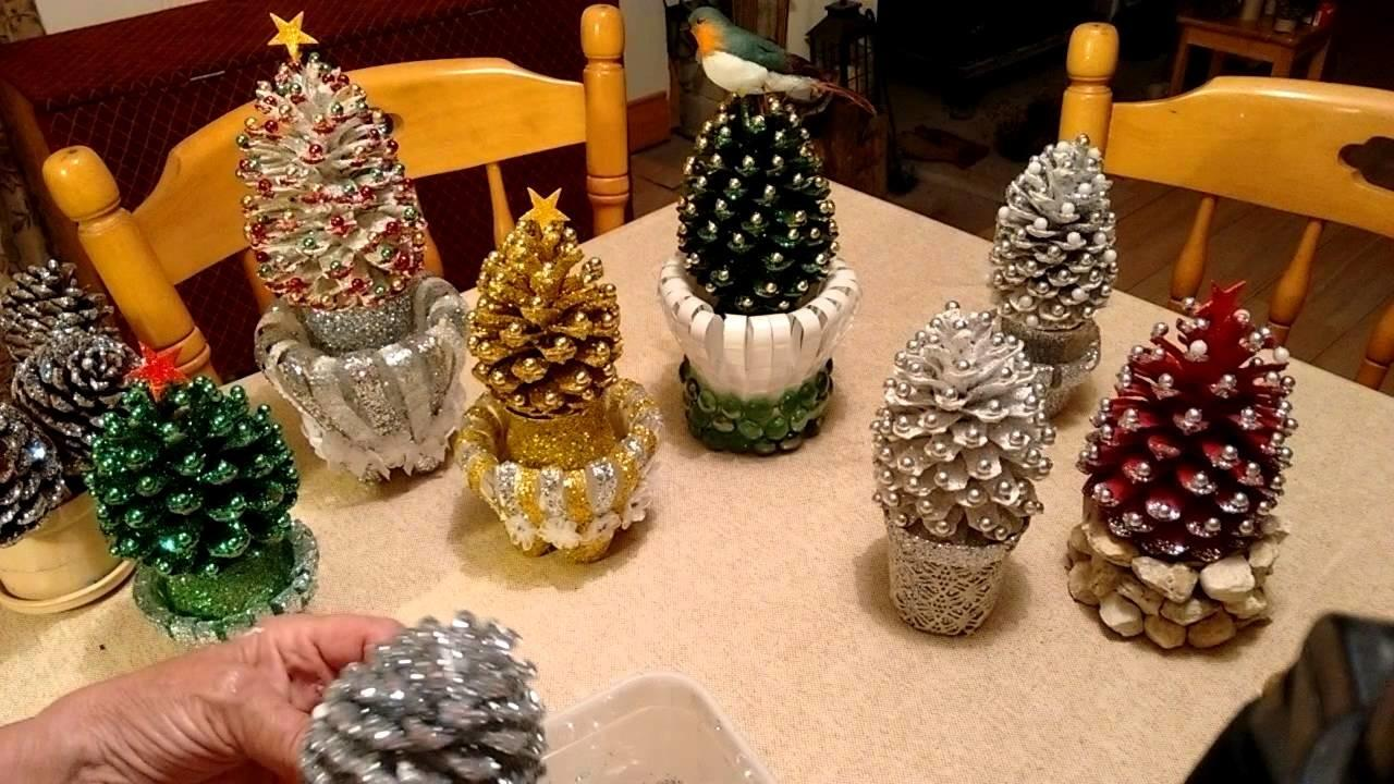 Beautiful Pine Cone Christmas Decorations Stand