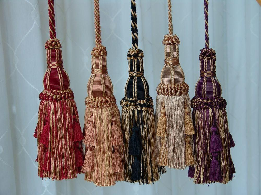 Beautiful Quality Key Tassels Home Decor Tiebacks