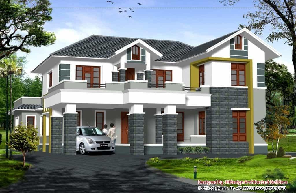 Beautiful Sloping Roof Kerala House 2907 Decoratorist 11609