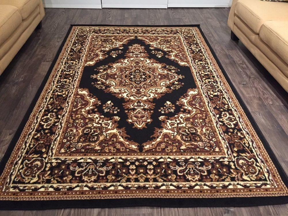 Beautiful Traditional Persian Style Area Rugs Black