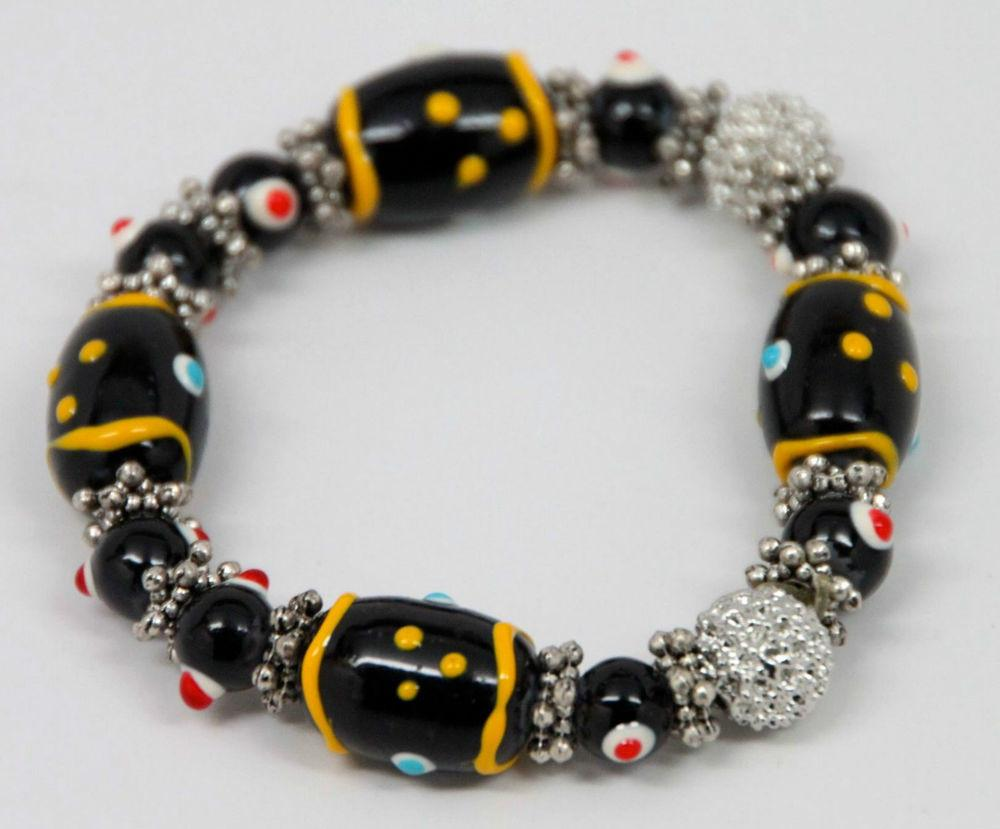 Beautiful Very Colorful Beaded Costume Jewelry Bracelet