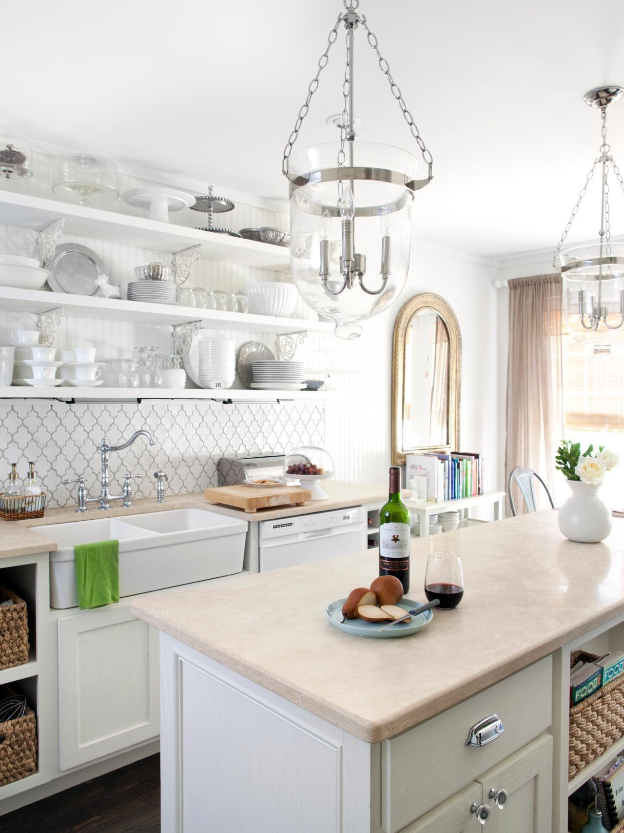 Beautifully Organized Open Kitchen Shelving