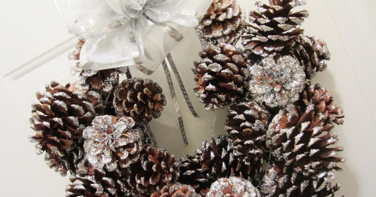 Beauty Glows Diy Glitter Pinecone Wreath