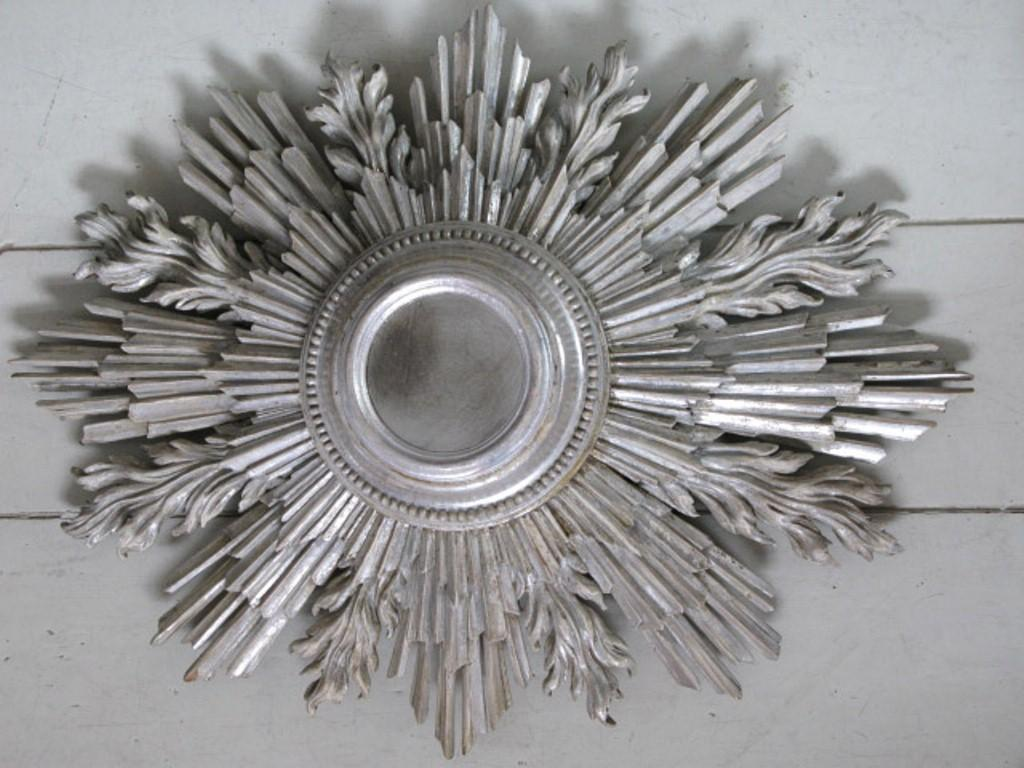 Beauty Silver Sunburst Mirror New Home Design