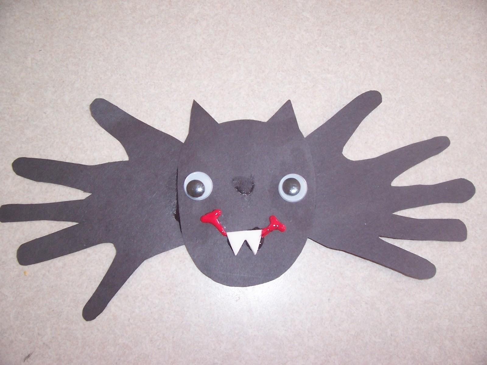 Because Said Other Mommyisms Hand Print Bat Craft