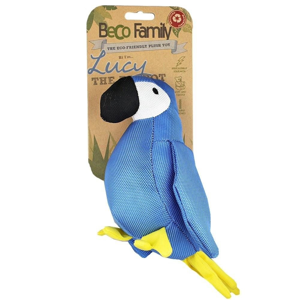 Beco Eco Friendly Pet Products Soft Plush Toy Parrot